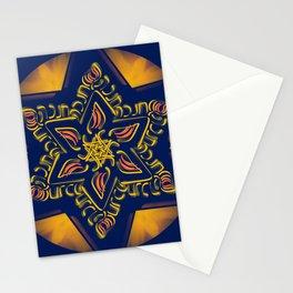 Hanukkah Star of David - 2 Stationery Cards