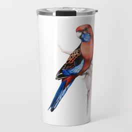 Crimson Rosella Parrot bird Travel Mug