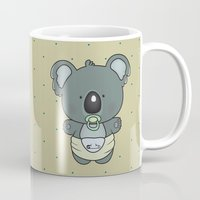 cartoons Mugs featuring Baby koala by mangulica illustrations