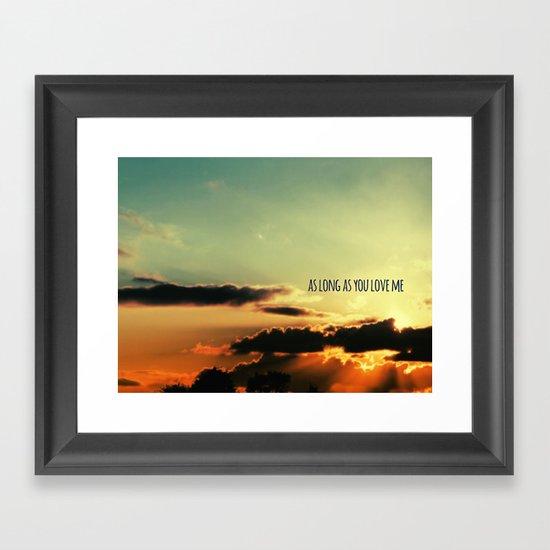 LOVE QUOTE Framed Art Print