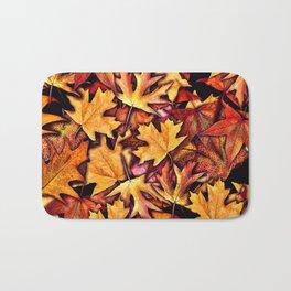 Fall Leaves Pattern Bath Mat