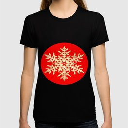 Snowflake in a Red Field T-shirt