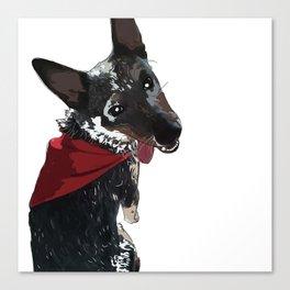 Adorable Dog Wrigley Canvas Print