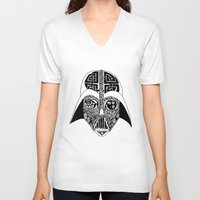 celtic V-neck T-shirts featuring Celtic Vader by ronnie mcneil
