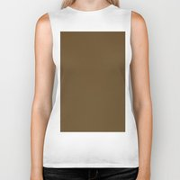 donkey Biker Tanks featuring Donkey Brown by List of colors