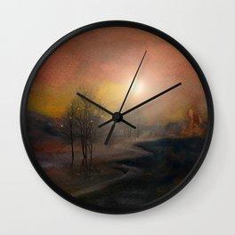 Calling The Sun IX Wall Clock