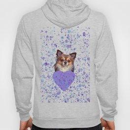 Watercolor Ultra Violet Splattering Dog Lovers Hoody