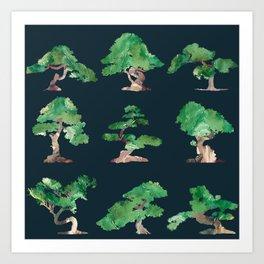 Bonsai Pattern Art Print