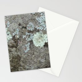 Lichen on granite Stationery Cards