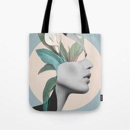Floral Portrait /collage Tote Bag