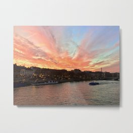 Parisien Sunset Metal Print
