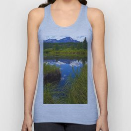 Pyramid Mountain in Jasper National Park, Canada Unisex Tank Top