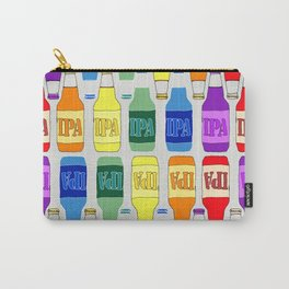 IPA Beer Pattern- Rainbow Carry-All Pouch