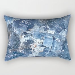Blue Calcite Rectangular Pillow