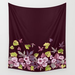 Sweet Potato Floral Border Wall Tapestry