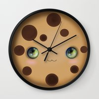 cookie Wall Clocks featuring Cookie by Ilya Konyukhov