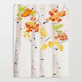 Autumn Birch Song Poster