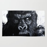 gorilla Area & Throw Rugs featuring Gorilla by rchaem