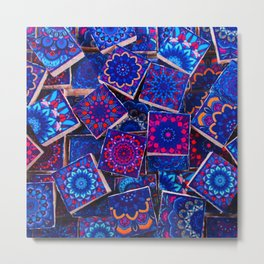V9 Traditional Special Moroccan Colored Blue Stones - A2 Metal Print