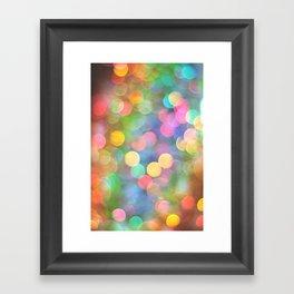Rainbow Bokeh I Framed Art Print
