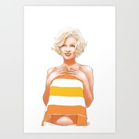 Marilyn Marmalade Art Print