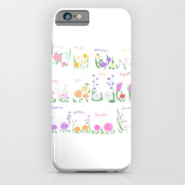 Birthday Month Flowers iPhone Case