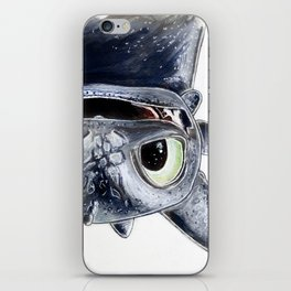 Toothless (Upside Down) iPhone Skin