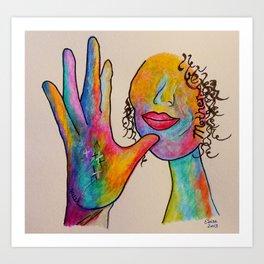 American Sign Language MOTHER Art Print