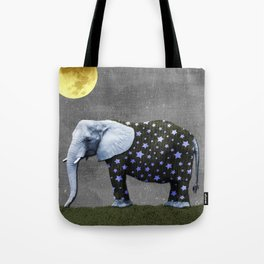 Elephant Under the Moon Tote Bag