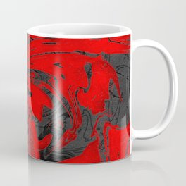 Black & Red Marble Coffee Mug