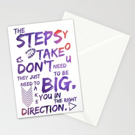 The Step You Tak Don't Need To Big - Jemma Simmons - Agents of SHIELD Stationery Cards