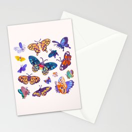 Butterflies Day - bright Stationery Cards