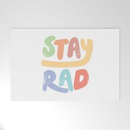 Stay Rad colors Welcome Mat