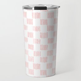 Hatch marks in Pink Travel Mug