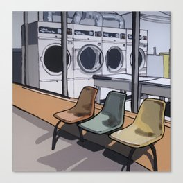 Coin Laundry Canvas Print