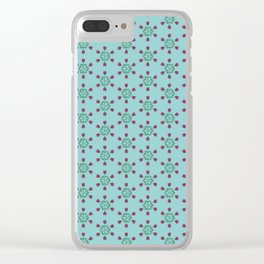 Retro floral compass- tulips Clear iPhone Case