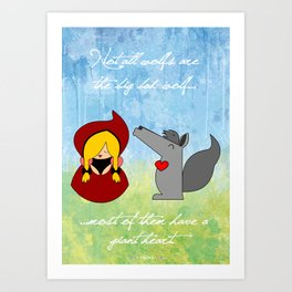 Little Red Riding Hood & Lovely Wolf ♥ Art Print