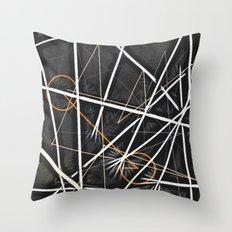 geometric interactions Throw Pillow