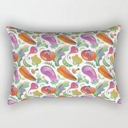 Garden Vegetables Rectangular Pillow