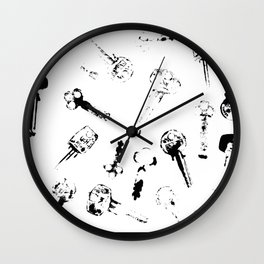 key print Wall Clock