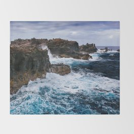 Ocean Power Throw Blanket