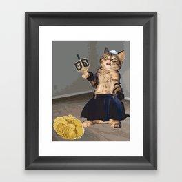 Jew Cat Framed Art Print