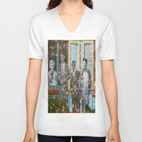 hollywood V-neck T-shirts featuring Hollywood Legends  by Key2MyArt