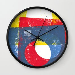 Basic in red, yellow and blue Wall Clock