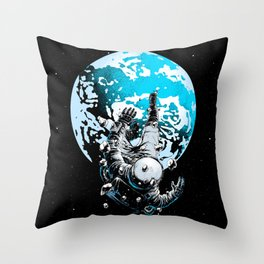 The Lost Astronaut  Throw Pillow