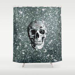 Modern sparkling Skull E Shower Curtain