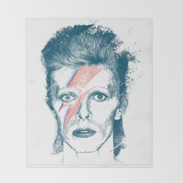 So Long Bowie.... Throw Blanket