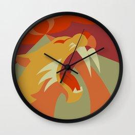 Sabertooth Wall Clock