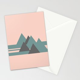 Peak Pink Grey Stationery Cards