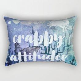 No Crabby Attitudes Rectangular Pillow